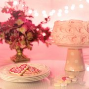 Customs rose cake