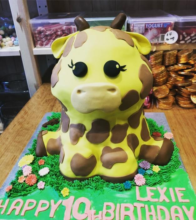 Baby-Giraffe-Custom-Birthday-Cake-627x705 Custom Cakes