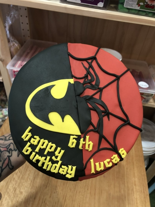 Batman-vs-Spiderman-Custom-Birthday-cake-e1526882106379-529x705 Custom Cakes