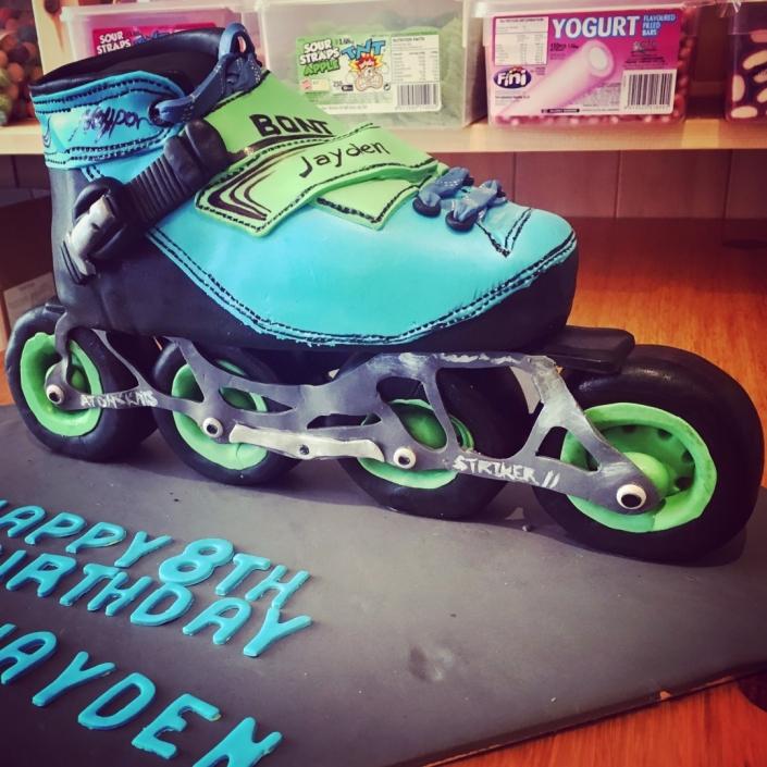 Roller-Skater-Cake-705x705 Custom Cakes