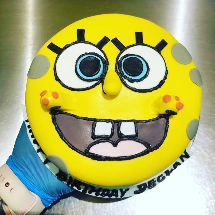 Simple-Sponge-Bob-Birthday-Cake-705x705 Custom Cakes