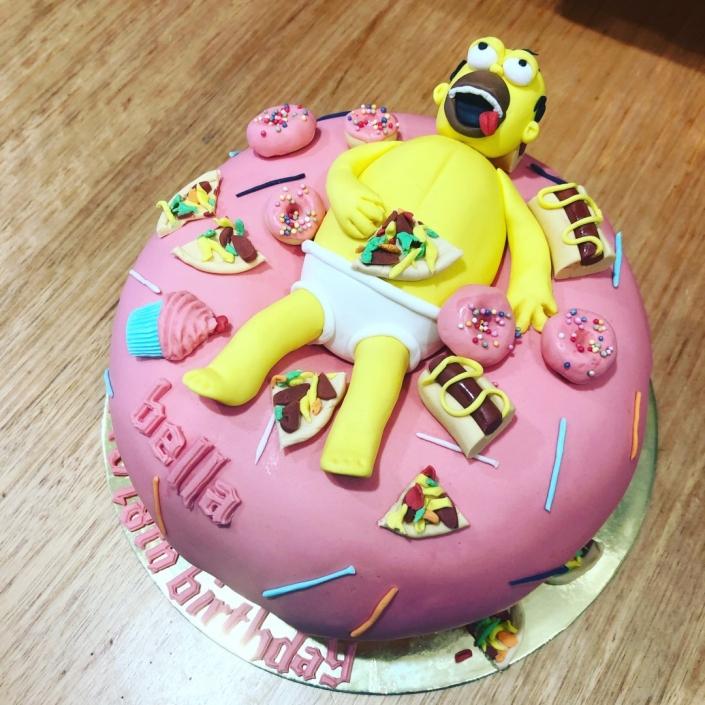 Simpsons-Custom-Cake-705x705 Custom Cakes
