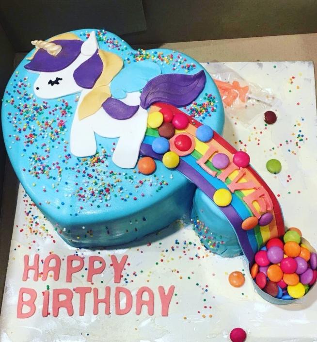 Unicorn-Pooping-Rainbow-Custom-Cake-654x705 Custom Cakes